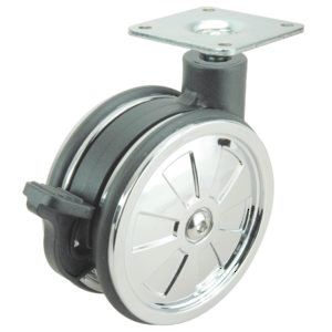Non-Hooded Twin Wheel Design Caster