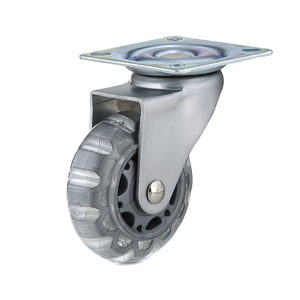Contemporary Clear Gray Furniture Caster - Plate