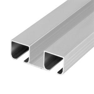 Rail de roulement double en aluminium c 500 - Rail double porte coulissante ...