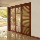 TWIN TELESCOPIC WOOD. Synchronized Telescopic Sliding System for Two Wood Doors