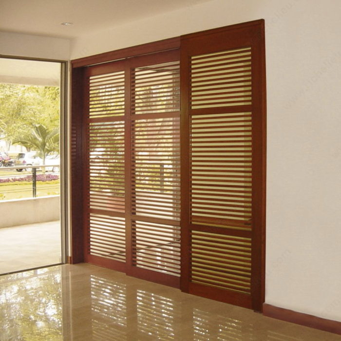 Twin Telescopic Wood Synchronized Sliding System For Two Doors Onward Hardware