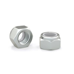 Hex Lock Nut with Nylon Insert - Zinc