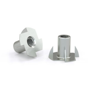 T-nut with Four Prongs - Zinc