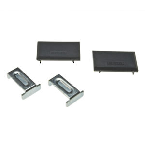 End Cap Set, Plastic (Anthracite), with Limiter for Aluminum Panel (2)