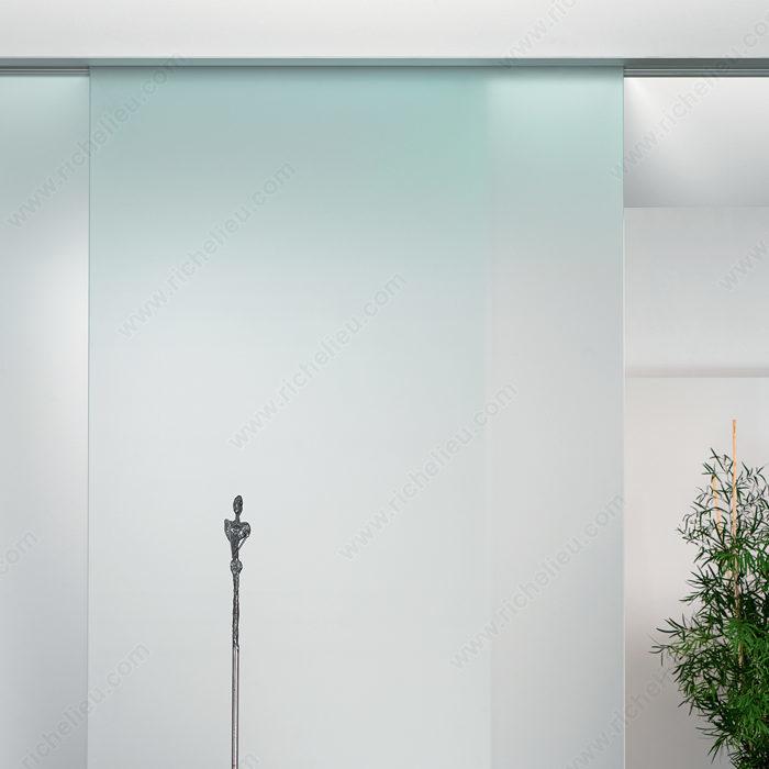 Ensemble de quincaillerie pour porte coulissante en verre un verre fixe 100 - Ensemble porte coulissante ...