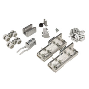 Hardware Set for Sliding Glass Door and Fixed Glass Panel - 100 kg (220 lb)