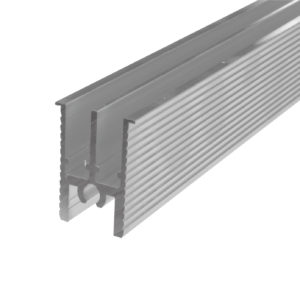 Dual Guide Track in Aluminum, to Glue, 3.5 m