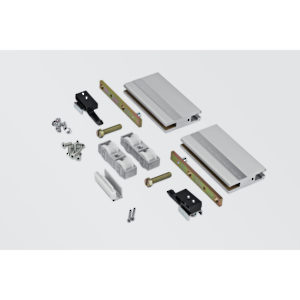Hardware Set for One 10-12 mm Glass Door, 125 kg
