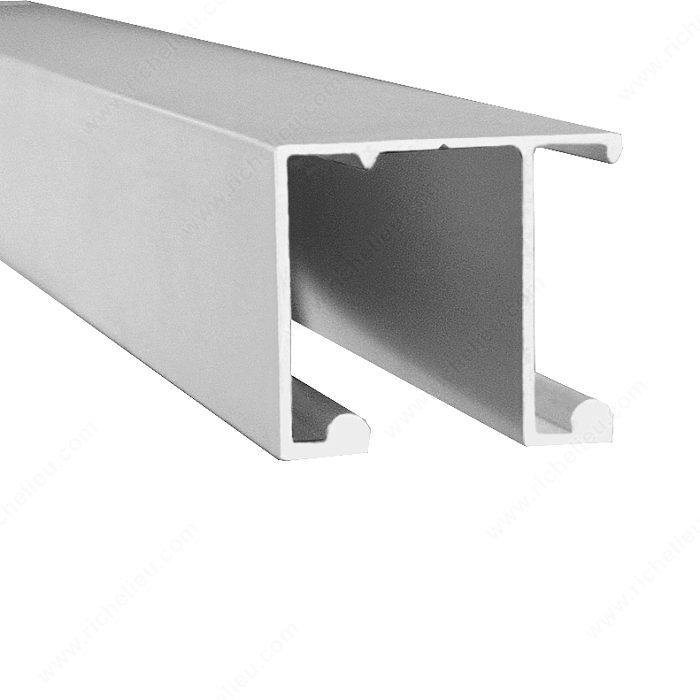 U28 Aluminum Double Track For Top Sliding Closet System 1