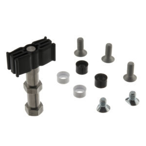 Guide slider, rattle proof, plastic, with mounting screws