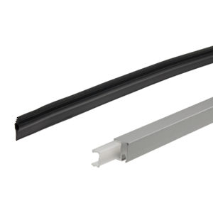 Vertical seal 18/20, for all-glass sliding doors wtih fixed glass, set for glass distance 18-20,5 mm