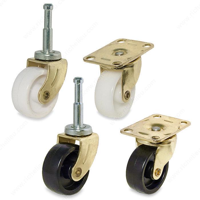 roulettes pour meuble, charge légère - quincaillerie onward