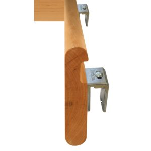 Adjustable Bracket for Secure Wood Handrail