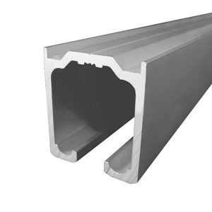 Aluminium Track for Partition Systems with Flat Sides
