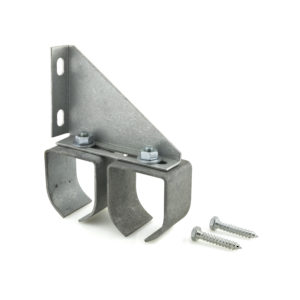 Double Galvanized Steel Round Rail Bracket - Wall Mount