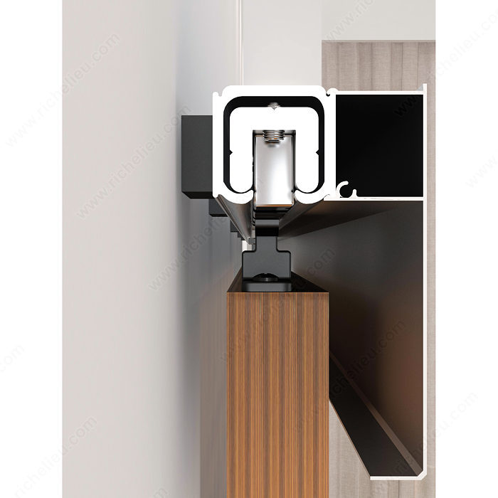 The contemporary kit for wall mount with track onward hardware for Contemporary interior door hardware