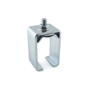 Single Zinc Plated Steel Box Rail Joint Connector