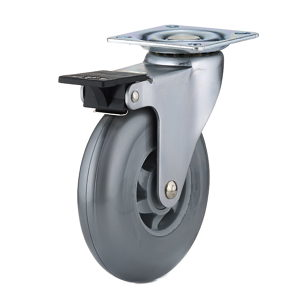 Contemporary Gray Furniture Caster - With Brake