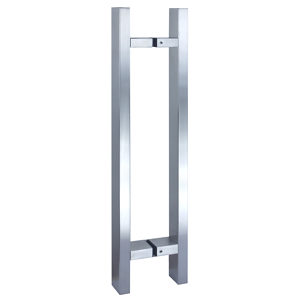 Rectangular Ladder Stainless Steel Back-to-Back Handle with Rectangular Mounting Rods