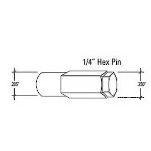 Storm Door Hinge Hex Pin