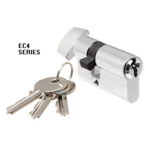 Standard Length Keyed Cylinder Lock with Thumb Turn