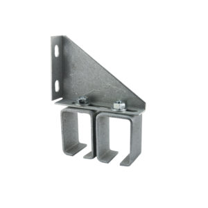 Double Adjustable Galvanized Steel Box Rail Bracket - Wall Mount