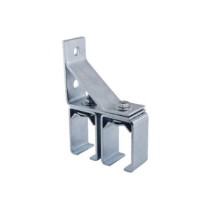 Double Adjustable Zinc-Plated Steel Box Rail Connector Bracket - Wall Mount