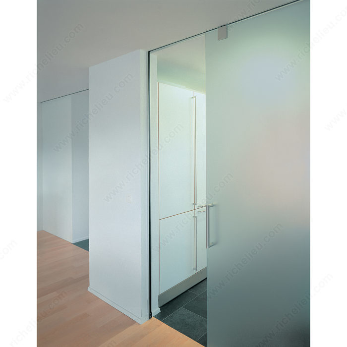 Top Hung Sliding System For Glass Doors With Fixed Onward Hardware