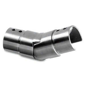 25 to 55º Upwards Adjustable Angled Cap Handrail Connector