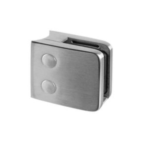 Square Glass Clamp with One Closed Side for Round Post Mounting