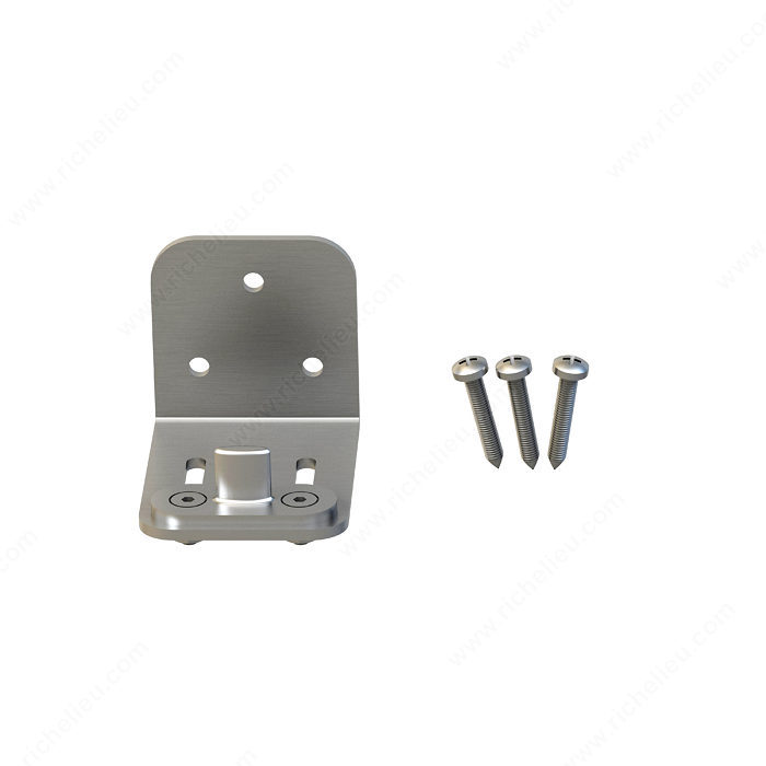 Lower Guide for Wood Door, Side-Mount, Adjustable, Stainless Steel-1