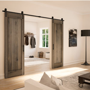 Rustic Barn Door Wall Mount Sliding Door System for 1 Wood Door