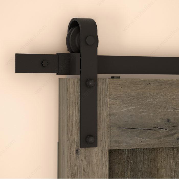 Rustic Barn Door Wall Mount Sliding Door System For 1 Wood