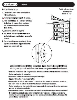 Charni re n 1 pour portes de garage quincaillerie onward - Guide installation porte de garage ...