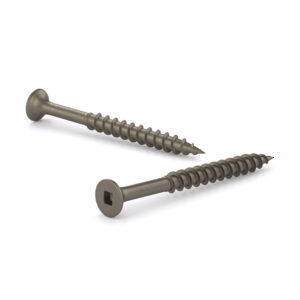 Plain Floor Screw, Bugle Head, Square Drive, Coarse Thread, Regular Wood Point