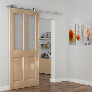 The Industrial 2 Barn Door Kit with 2.0 m Track