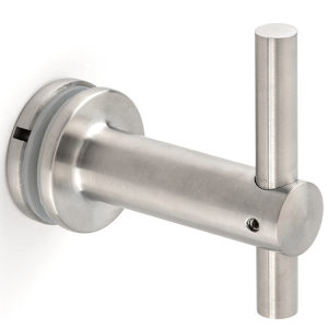 Glass-Mounted Height-Adjustable Weld-On Handrail Bracket