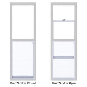 "Venting Door Lite 22"" x 64"" Low-E"