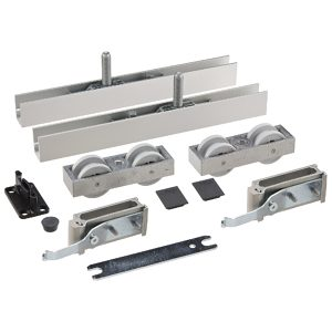 Rolling Hardware, with Two Track Stoppers, for Hawa-Junior 120/B System
