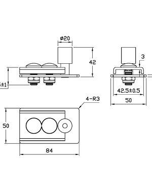 Double Box Track Hardware Kit Onward Hardware