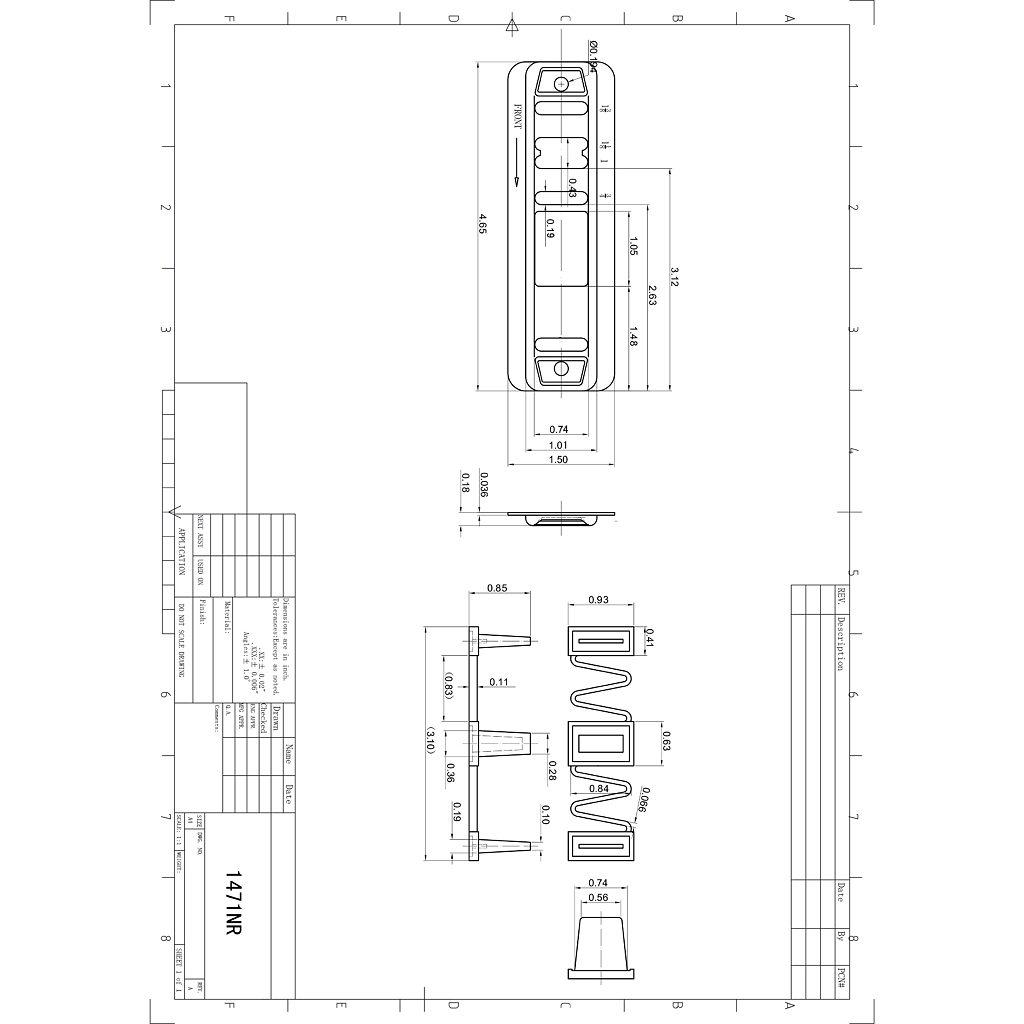 guide pour porte coulissante quincaillerie onward. Black Bedroom Furniture Sets. Home Design Ideas