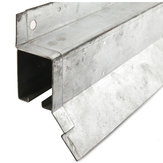 Heavy Duty Galvanized Steel Box Rail with Flashing