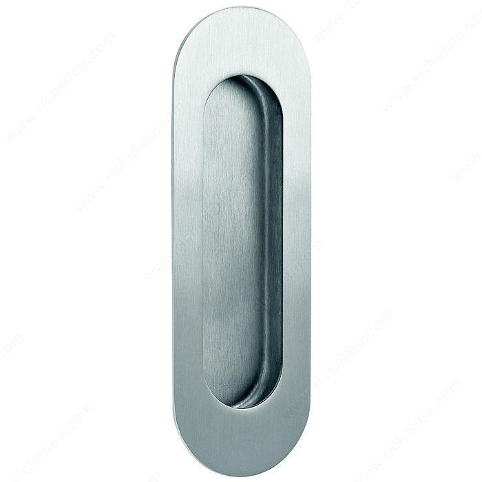 Poign e encastr e ovale quincaillerie onward for Interrupteur porte coulissante