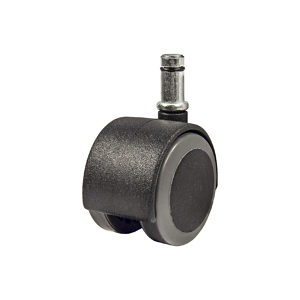 Soft Tread Dual-Wheel Furniture Casters - With Friction Grip Stem