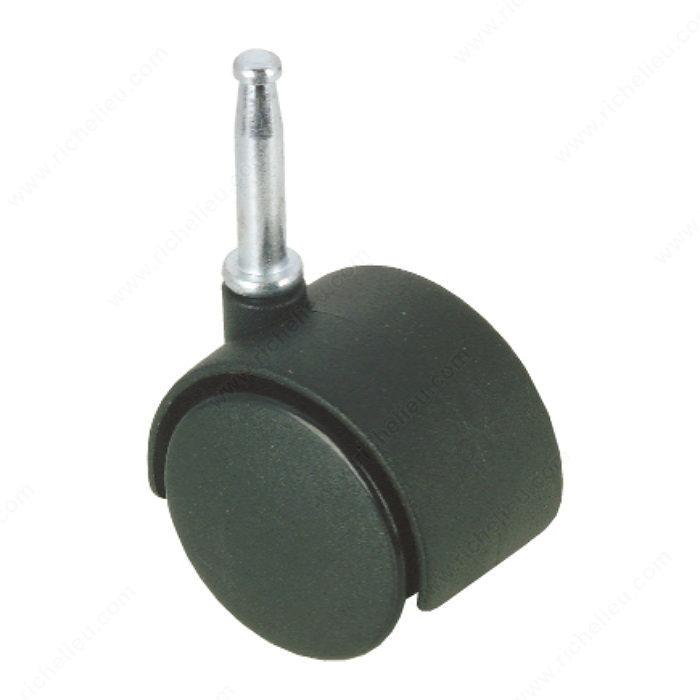 Roulette pour meuble avec tige bois quincaillerie onward - Roulette pour meuble avec frein ...
