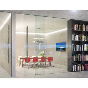 HAWA PORTA 100 GWF Sliding Doors and Fixed Glass Partition System