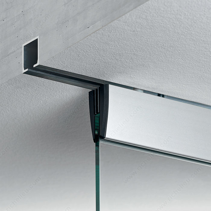 Eku porta 100 gm ceiling mount sliding glass door system for Ceiling mounted sliding panels